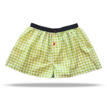 Unabux Boxershort LINDE 061 - grün weiß karierte Unterwäsche für Herren