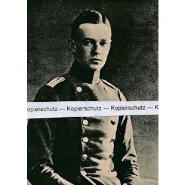 Otto von der Linde - Leutnant - um 1915 - selten     I25-11