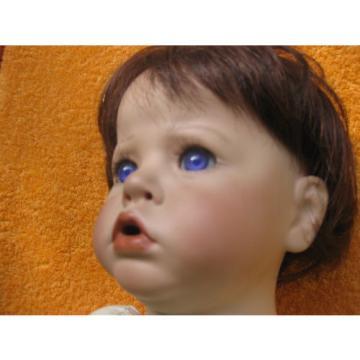 Porzellanpuppen-Körper mit Porzellankopf von Linde für den Puppendoktor