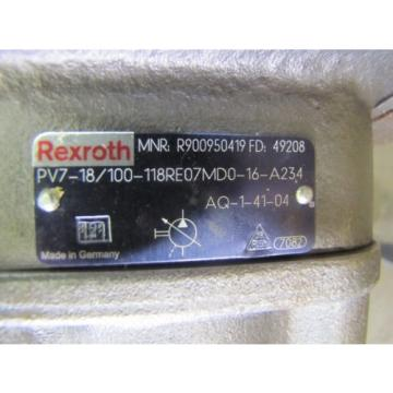 REXROTH India china PV7-18/100-118RE07MD0-16-A234 R900950419 VARIABLE VANE HYDRAULIC PUMP