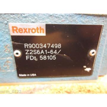 Rexroth Mexico Japan R900347498 Z2S6A1-64 Valve New