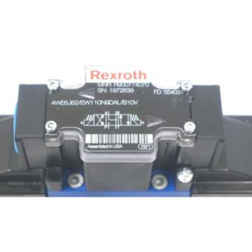 NEW Dutch Italy REXROTH 4WE6J62/EW110N9DAL/B10V VALVE W/ 4WEH16W72/6EW110N9ETDAL/B10V