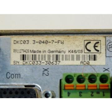 Rexroth Greece Australia Indramat DKC03.3-040-7-FW Eco-Drive Frequenzumrichter Serien Nr. DKC033-
