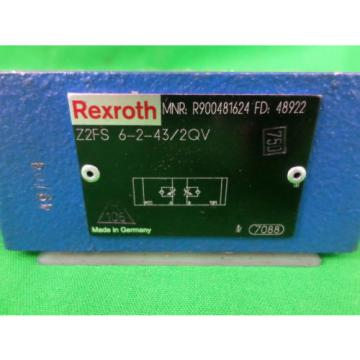 Rexroth Singapore Russia Z2FS 6-2-43/2QV Stackable Flow Control Valve