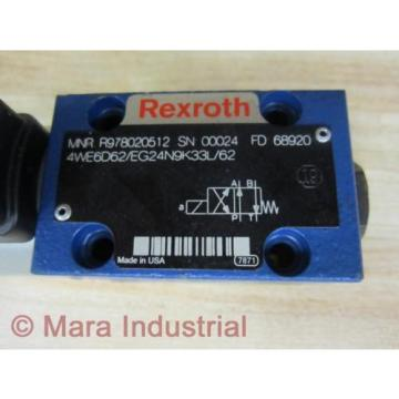 Rexroth Russia Mexico Bosch R978020512 Valve 4WE6D62/EG24N9K33L/62 - New No Box