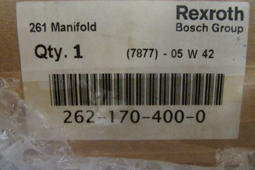 REXROTH China India BOSCH 262 170 400 0 Model 261 Manifold 7877 05 W 42