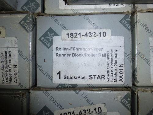 New Japan India Rexroth Star 1821-432-10 Runner Block Roller Rail