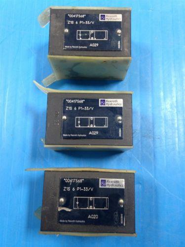 LOT Canada china OF 3 REXROTH Z13 6 P1-33/V HYDRAULIC MANIFOLD BLOCK VALVES NEW (A05)