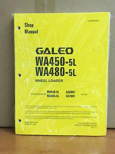 Komatsu Galeo WA450-5L, WA480-5L Wheel Loader Shop Service Repair Manual
