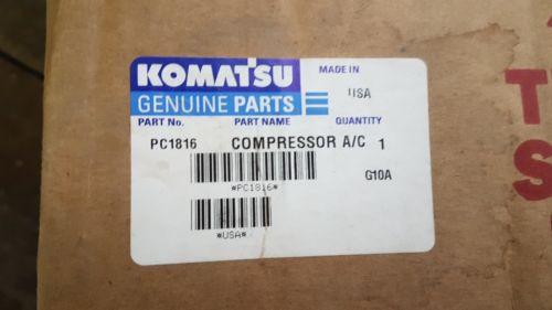 New Komatsu Compressor A/C PC1816 Made in USA