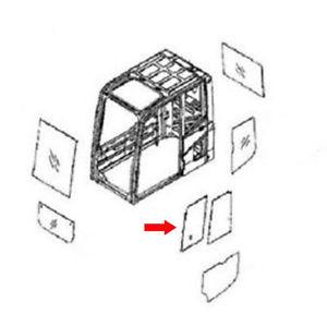 20Y-54-52850 Front Door Slider Glass fits Komatsu Excavator PC220-7 PC220-7Z