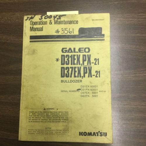 Komatsu D31EX, PX-21 D37 OPERATION MAINTENANCE MANUAL BULLDOZER DOZER OPERATOR