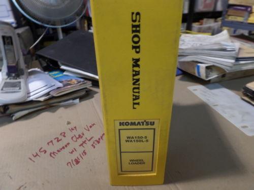 KOMATSU WA150-5 WA150L-5 WHEEL LOADER SHOP MANUAL S/N 65001 & UP