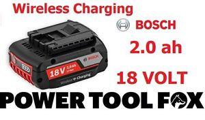 Bosch 18v 2.0ah Li-ION WIRELESS Charging BATTERY 1600A003NC 2607336721 865