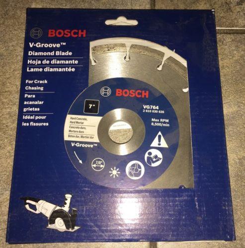 """New Bosch VG764  V-Groove 7"""" Diamond Blade For Concrete & Hard Motor"""