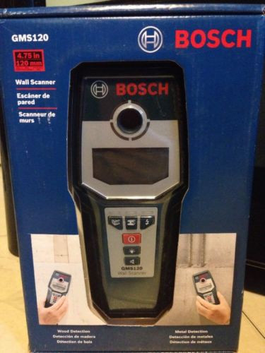 BOSCH GMS120 Wall Scanner Wood Detection Metal Detection NEW