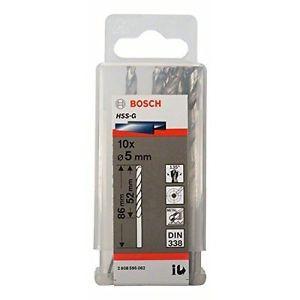 Bosch 2608595062 - Punta per metallo, codolo rotondo, HSS-G, 5,0 x 52 x 86 mm,