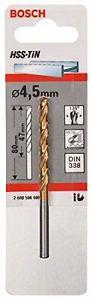 Bosch 2 608 596 696 - Punta da trapano HSS-tin, specifica per metallo, Din 338,