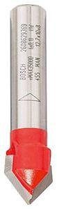 Bosch Fresa per scanalature a V 8 mm, D 12,7 mm, L 10 mm, G 44,5 mm, 90°