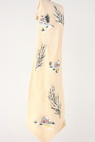 Vintage 40s/50s California Linde Hand Painted Necktie TIE USA