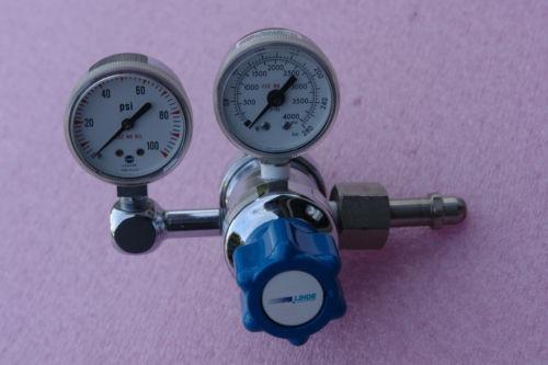 LINDE SG 36600 Gas regulator 4000 psi max, outlet gauge 100 psi