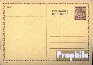 Bohemia et Moravia p7 Officiel Carte postale inusés 1940 lInde branche