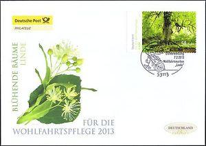BRD 2013: Blühende Linde! Post-FDC selbstklebende Wohlfahrtmarke Nr. 2986! 1601