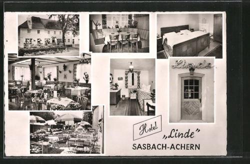 schöne AK Sasbach-Achern, Hotel Linde, Innenansichten, Bes. Fam. Jörend