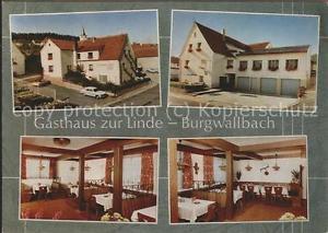 71516136 Burgwallbach Gasthaus zur Linde Gastraeume Schoenau a.d.Brend