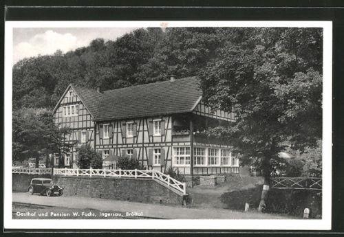 alte AK Ingersau, Hotel Pension zur Linde v. W. Fuchs