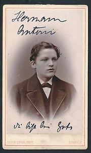 CDV c. 1880 - Jeune Homme Ph. Linde à Lubeck Allemagne  - T770