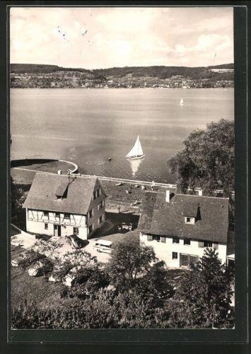 alte AK Bodman, Fischerhaus und Brunnenhaus, Hotel Linde am See