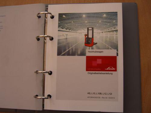 Ameise Hochhubwagen Linde AS L10 L10B L12 L12i Betriebsanleitung Teilekatalog