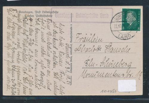 01079) Landpost Ra1 Genshagen Ludwigsfelde Land 1929, AK Gasthof Linde TOP