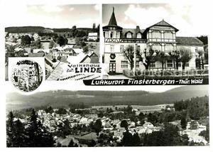 72704266 Finsterbergen Volkshaus zur Linde Panorama Finsterbergen Thueringer Wal