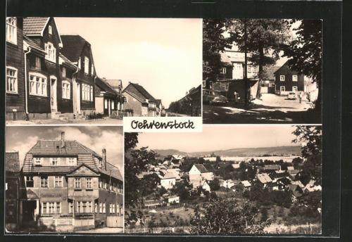 AK Oehrenstock, Ilmenauer Straße, Dorfplatz, Gasthaus Zur Linde, Teilansicht