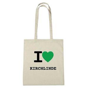 Eco-bag - I love KIRCH-LINDE - Jute Bag Eco-bag - color: natural