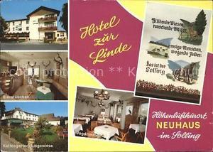 71829155 Neuhaus Solling Hotel zur Linde Bierstuebchen Kaffeegarten Jagdzimmer H