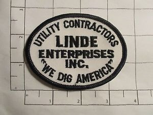Linde Enterprises Inc Patch - Utility Contractors - We Dig America - vintage