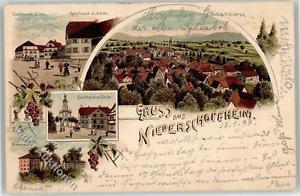 52027301 - Niederschopfheim 1898 Gasthaus zur Linde zur Sonne zum Adler Hubers B