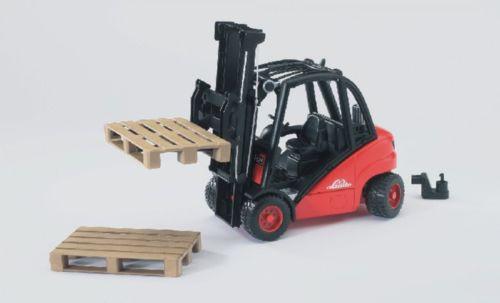 Linde Gabelstapler H30D mit 2 Paletten Spielzeug Fahrzeug Baustelle Kinder