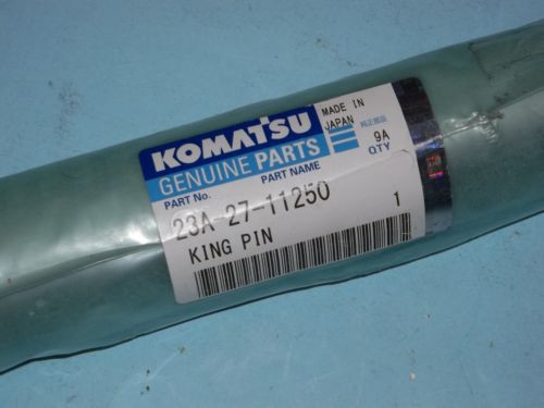 NEW GENUINE 23A-27-11250 KOMATSU KING PIN , MADE IN JAPAN , FREE SHIPPING!!!