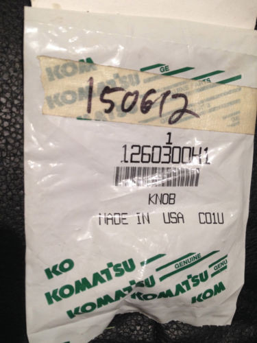 NEW Komatsu 1260300h1 Knobs ONE PACKAGE WITH TWO