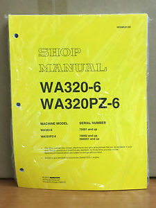 Komatsu WA320-6, WA320PZ-6 Wheel Loader Shop Service Manual (70092, H00051 & up)