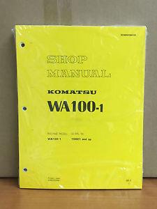 Komatsu WA100-1 Wheel Loader Shop Service Repair Manual