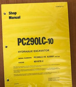 Komatsu PC290LC-10 Hydraulic Excavator Shop Repair Service Manual