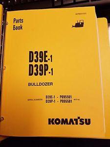 PARTS MANUAL FOR D39P-1 SERIAL P095501 AND UP KOMATSU BULLDOZER