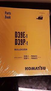 PARTS MANUAL FOR D39P-1 SERIAL P095872 AND UP KOMATSU BULLDOZER