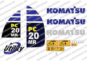 KOMATSU PC20MR DIGGER DECAL STICKER SET