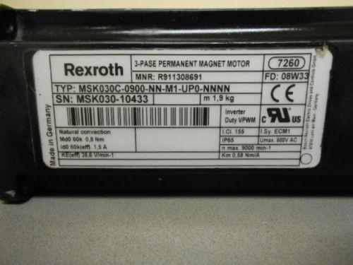 REXROTH Italy Italy SERVO MOTOR, MSK030-C-0900-NN-M1-UP0-NNNN (316200046)